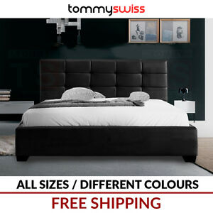 King Size Bed Leather Frame