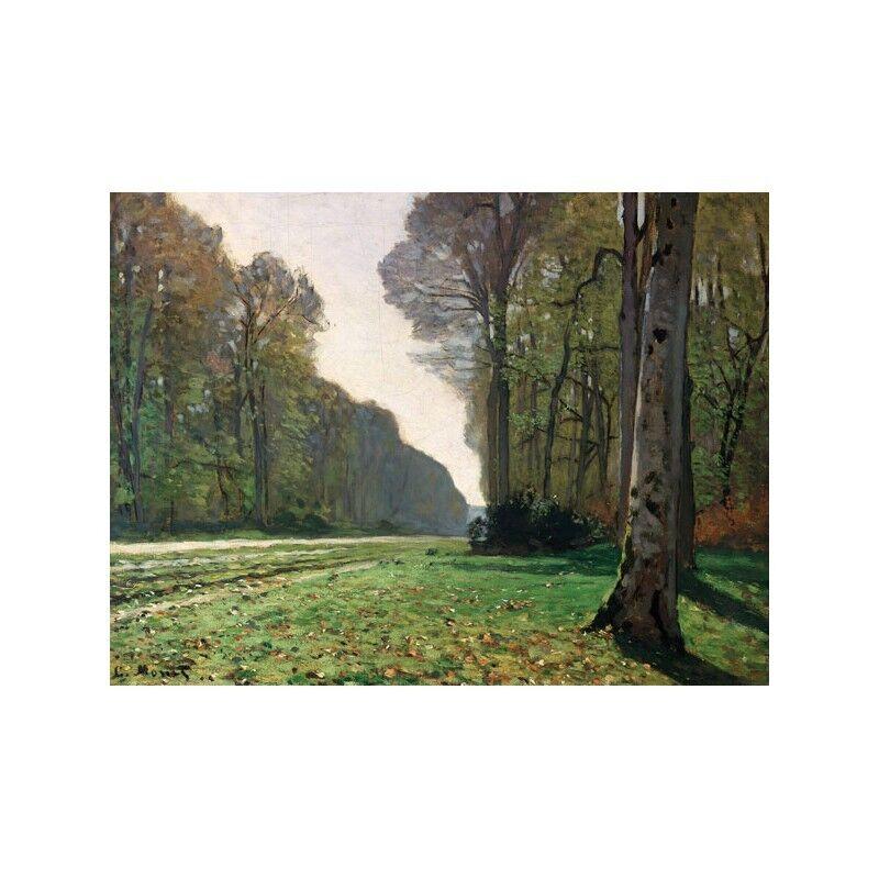 Quadro su Le Pannello in Legno MDF Claude Monet Le su Pave de Chailly 9014a3