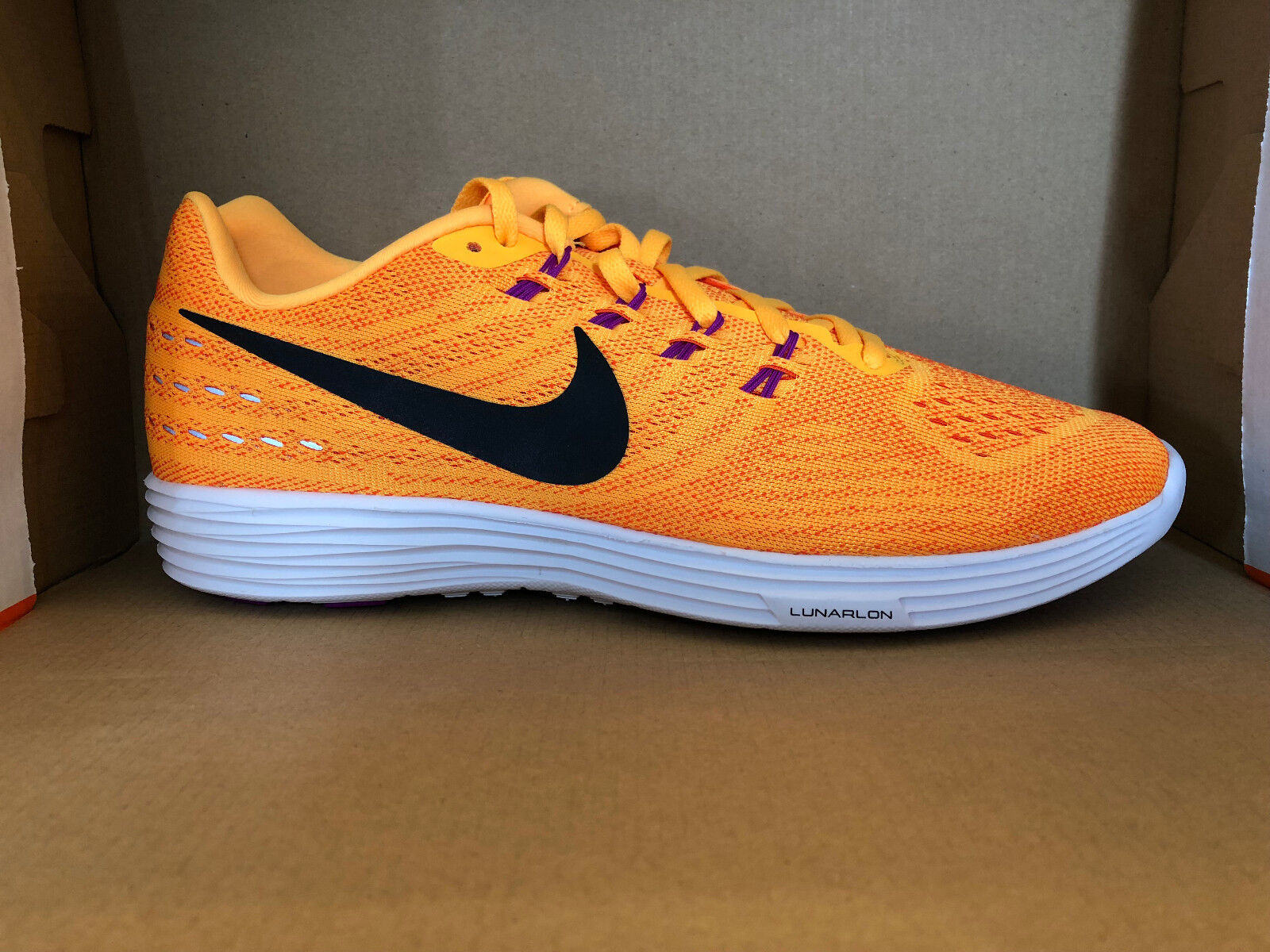 NIKE femmes LUNARTEMPO 2 Chaussures 12 orange orange orange noir Blanc 818098 801 e35d61