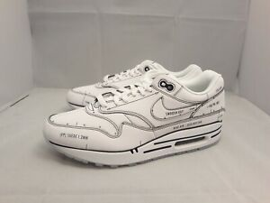 Details about Nike Air Max 1 Tinker Sketch to Shelf SCHEMATIC White CJ4286 100 Men's Size 12