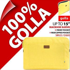 Golla-15-Jaune-Apple-Macbook-Sacoche-rembourre-etui-mallette-jusque-15-4-034