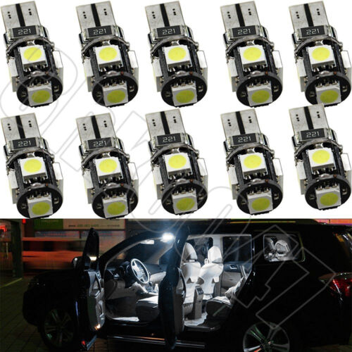 50x T10 W5W LED Car Light Canbus Error Free Side 194 168 192 Cold White Bulb 12V