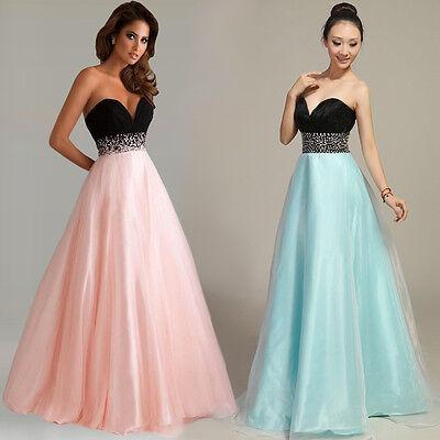 Abendkleid Ballkleid Brautkleid Brautjungfernkleid Kleid Rosa Türkis 34-42 A1221