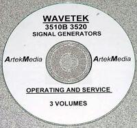 Wavetek 3510b 3520 Signal Generator Operator -service Manuals (3 Vol)