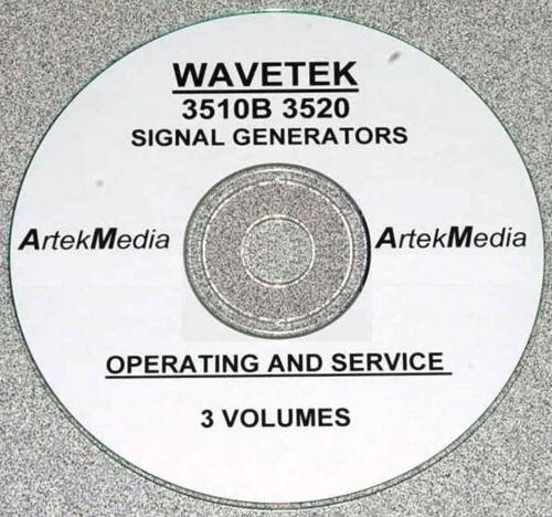 Service Manuals WAVETEK 3510B 3520 Signal Generator Operator 3 Vol
