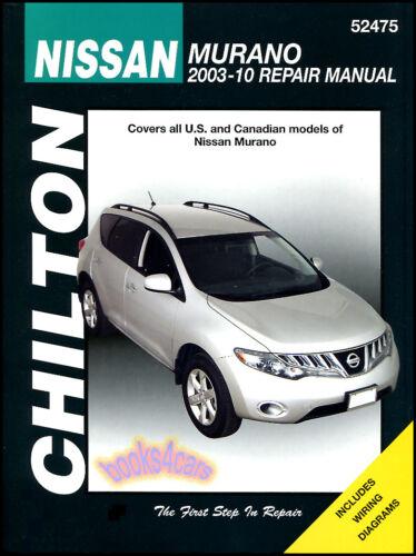SHOP MANUAL MURANO SERVICE REPAIR NISSAN BOOK CHILTON ie HAYNES WORKSHOP GUIDE