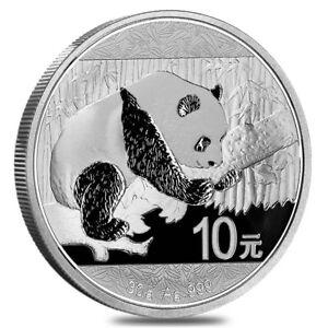 2016 30 gram Chinese Silver Panda 10 Yuan .999 Fine BU