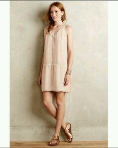 d8ba2e9a2956c New $198 Anthropologie Mazet Swing Dress by Vineet Bahl PINK Size ...