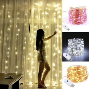 Christmas-Party-USB-LED-Copper-Wire-String-Fairy-Light-Strip-Lamp-Waterproof-10M