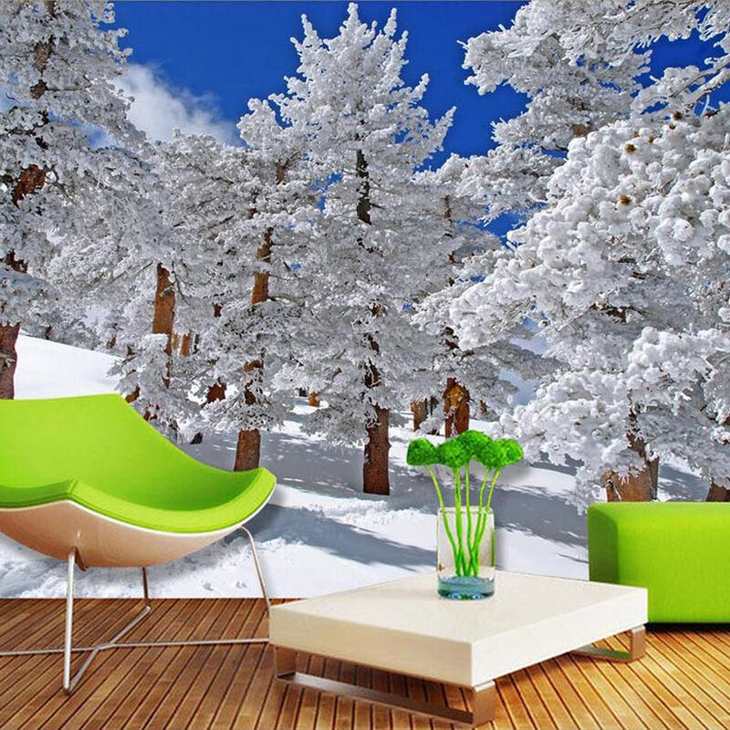 3D Snow Pine 610 WallPaper Murals Wall Print Decal WALLPAPER Wall Deco AJ WALLPAPER Decal 081bd7
