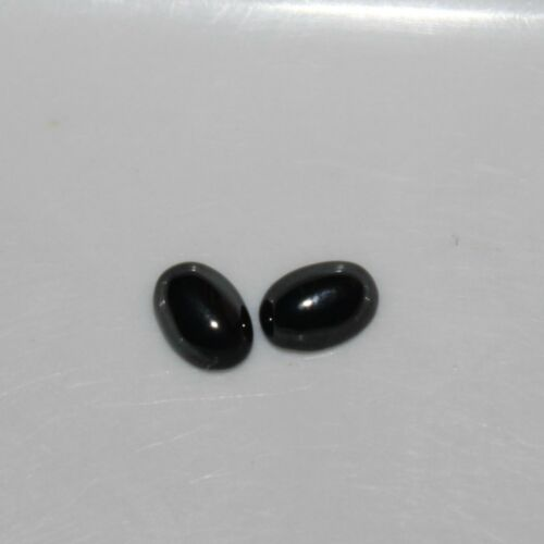 Hematite Gunmetal 7x5mm Cabochon Oval Loose Gemstones w// Multi-Qty Discounts