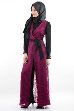 Al Haya Nisa Collection Pink Lace Black Jump Suit Elegant Party Wear Modest