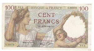 Francia-France-100-franchi-18-12-1941-BB-VF-pick-94-rif-4369