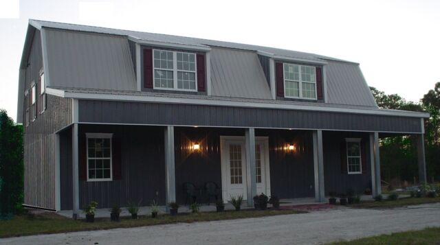 Steel Metal Home Gambrel Building Shell Kit, 3500 sq ft