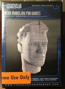 Details about GNOMON WORKSHOP: Head Modeling for Games Low Poly Modeling  with Maya Escalante