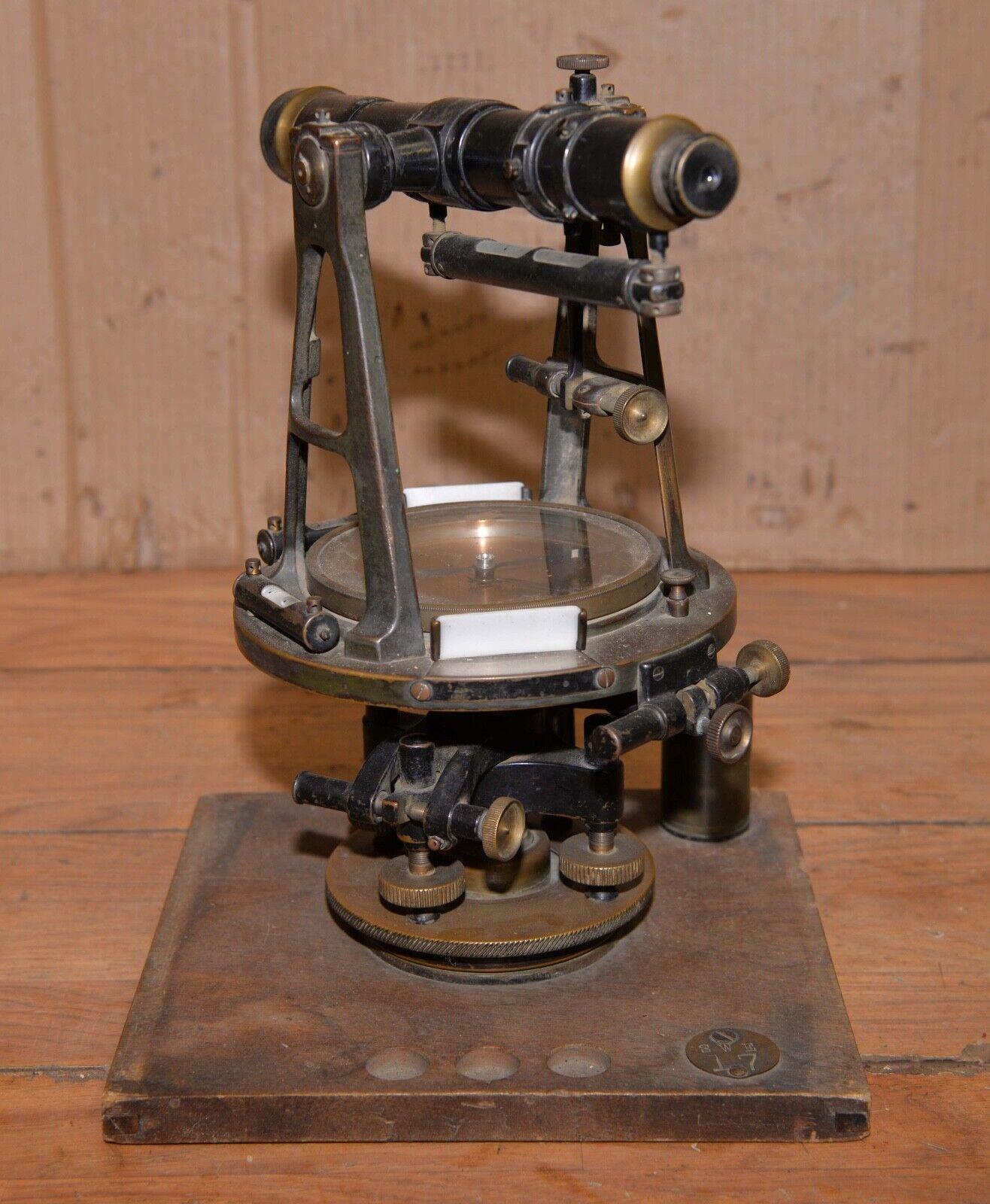 Antique J. C. Ulmer USA surveyors level brass compass transit Theodolite tool