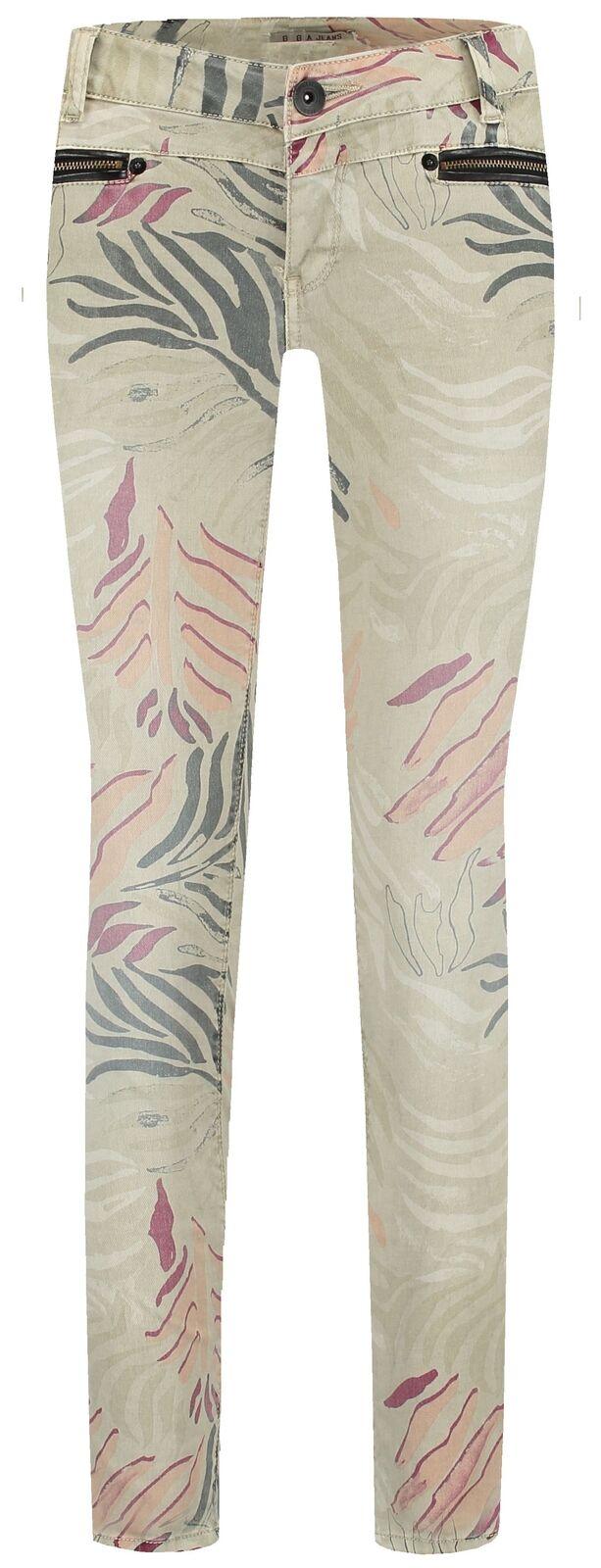 Garcia Damen 7 8 Jeans Rachelle L28  beige mit Print Neu