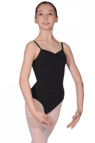 Roch Valley Camisole Dance Leotard Cotton with bra support Black RAD Exam//Ballet