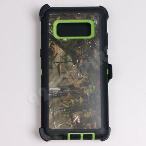 For-Samsung-Galaxy-Note-8-Green-Tree-Camo-Defender-Case-Clip-fits-Otterbox