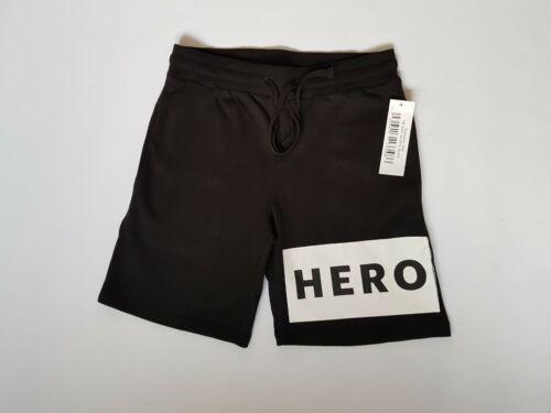 Mens Black Shorts By Heros Heroine Block Logo