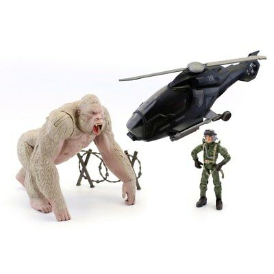 Rampage Movie Big City Brawl George Helicopter Play Set Action