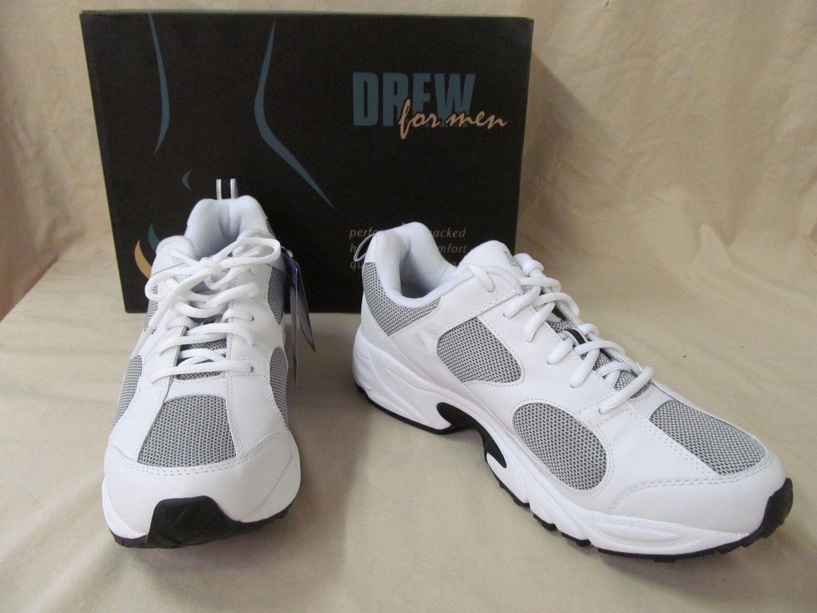 Drew 11.5 M Lightning White Pelle Orthotic Athletic Shoes  40767-07