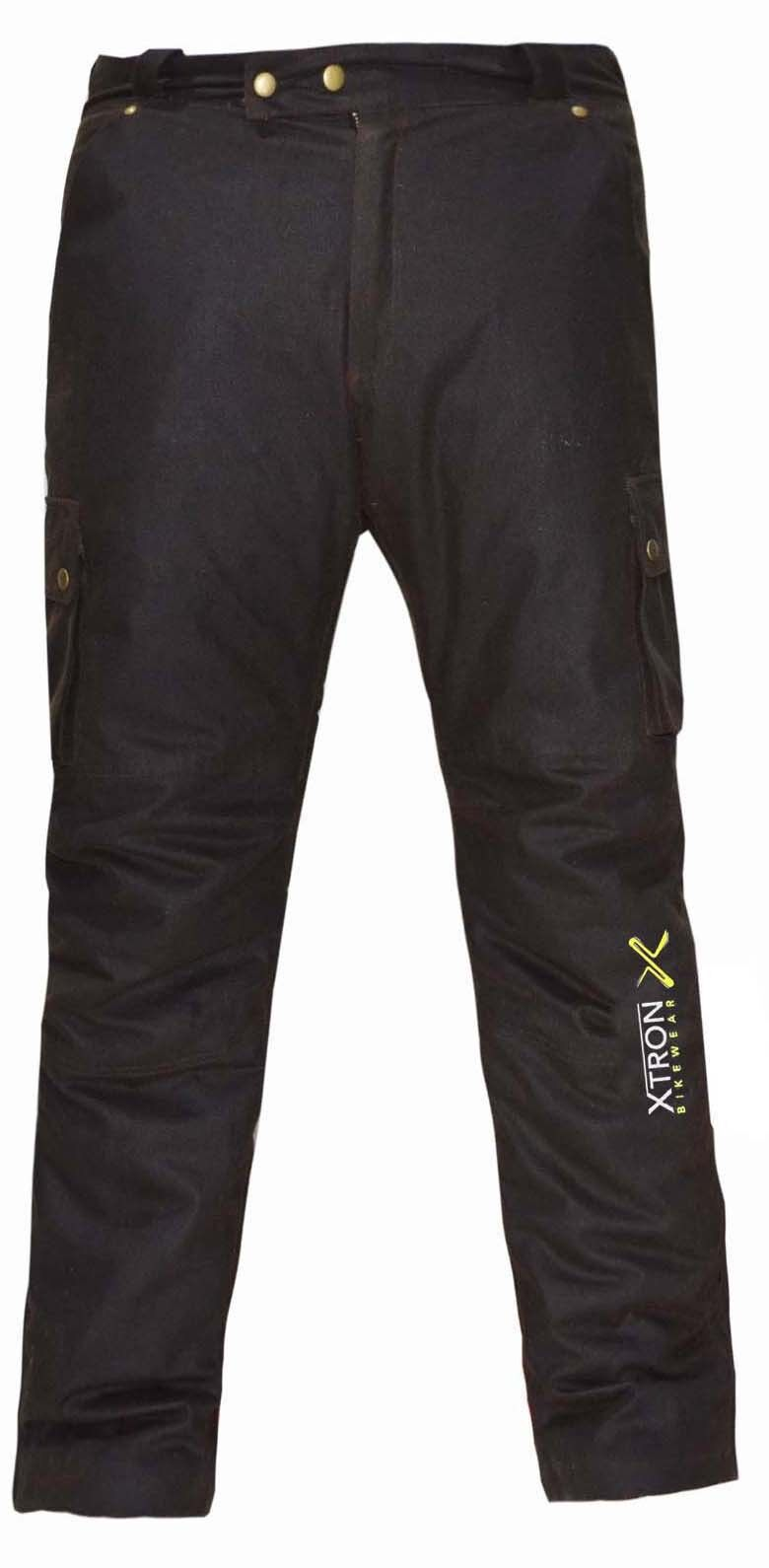 Moto CE Armour cotone cerato stile Pantaloni biker Foderato Con Cintura Cappotto Giacca Pantaloni stile Pantalone b5ad23