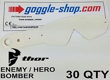 30 qty GOGGLE-SHOP MOTOCROSS TEAR OFFS to fit THOR ENEMY / HERO / BOMBER GOGGLES