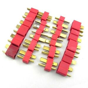 10-pair-T-Plug-Connector-Female-Male-Dean-Lipo-Battery-for-trex-450-RC-Heli-I