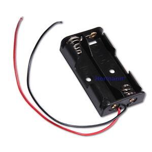 batteriehalter f r 2x aaa batterien geh use mit kabel batteriefach mignon akku ebay. Black Bedroom Furniture Sets. Home Design Ideas