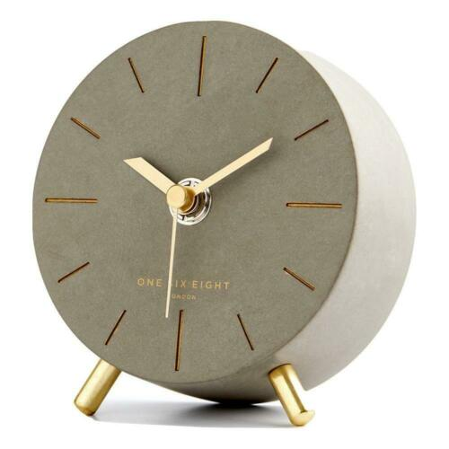 Angelo Concrete Silent Mantel Clock 11cm Time Tabletop Bed Sleep Morning