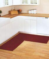 Burgundy Berber Corner Rug Runner Kitchen Hallway Bedroom Bathroom Non-slip