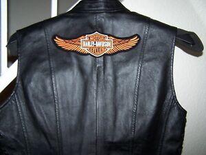 vest bagsiden på lille davidson læderbiker kvinders patch nyt sort størrelse Harley 1nfvOtqc1