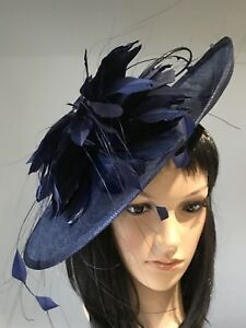 5fafe9ad054 SUZANNE BETTLEY NAVY BLUE WEDDING ASCOT HAT DISC FASCINATOR MOTHER ...