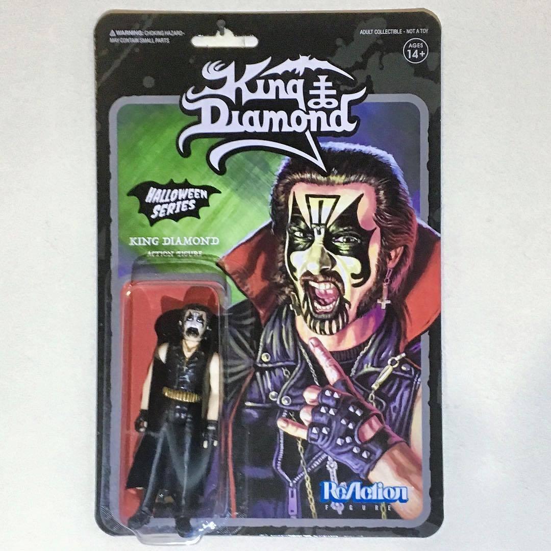 re DIAMOND DIAMOND DIAMOND 3.75  Reazione cifra Super7 Mercyful Fate ULTRA RARE Mint on autod 76950b