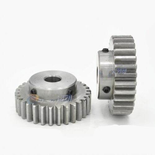 45# Steel Spur Pinion Gear 1.5Mod 30T Outer Dia 48mm Bore 6//8//10//12//15//17//20mm