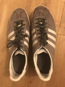 3 Adidas 2 Clair Seal Rrp Fr 70 Hommes £ 44 En Baskets Daim Et Uk10 Gazelle Gris O7w1xf