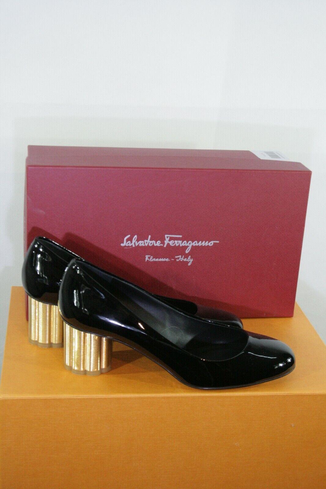 Tolle Salvatore Ferragamo Schuhe schwarz Gr. 7,5 (38) 373 207  bitte messen