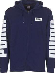2aa171c2c5 Details about Puma Rebel Full Zip Hoody TR Mens Hooded Sweat Jumper Navy  Blue 850074 06 P