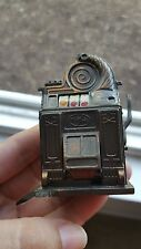 "Vintage Bronze/MADE IN SPAIN/ Play Me Slot Machine Pencil Sharpener 3"" Tall"