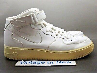 Nike Air Force 1 Mid 2006 White 306352 113 sz 10