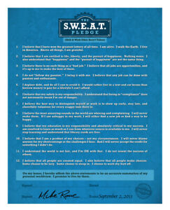 Mike Rowe's The S.W.E.A.T. Pledge Poster 2.0 (Skill & Work Ethic Aren't Taboo)