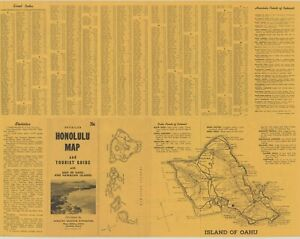 1954-Detailed-Honolulu-Map-amp-Tourist-Guide