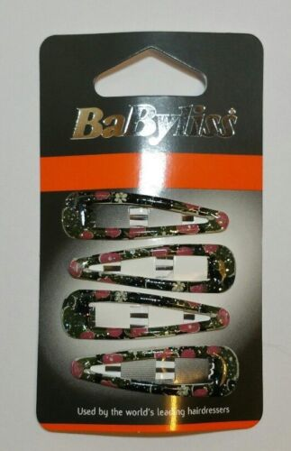Babyliss Hair Clips,Girls,Ladies,Hair Snap Clips,4 Pack,Summer,Fast Free UK P/&P