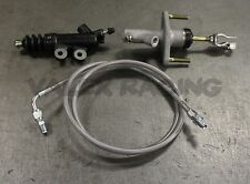 Exedy Master & Slave Cylinder & Silver Clutch Line Kit 94-01 Acura Integra