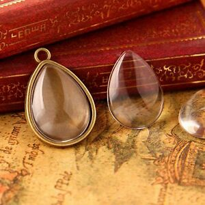 New clear glass cabochon dome drop type teardrop craft pendants diy image is loading new clear glass cabochon dome drop type teardrop aloadofball Gallery