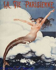 Parisienne Mermaid Art Print 8 x 10 - Jazz Age - Art Deco - Flapper - Pin Up