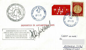 Polarpost: LINDBLAD EXPLORER - ANTARCTIC CRUISE 1971 - signiert Lindblad