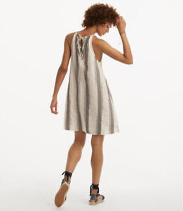 5991759e59 NWT Ann Taylor Loft Lou   Grey Highline Swing Dress. Gray and Cream ...