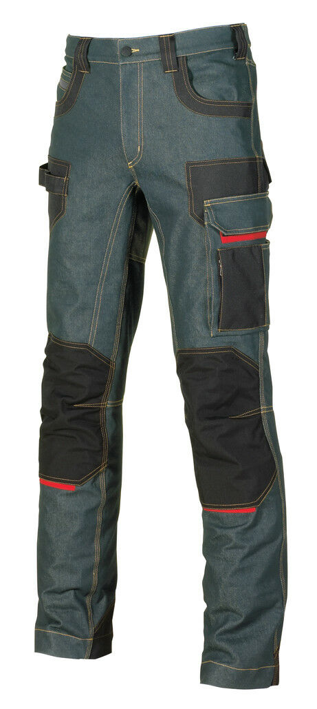 U-Power Workwear Jeans Hose - - - Platinum Button Rust Jeans Jeanshose Workwear     | Verkauf